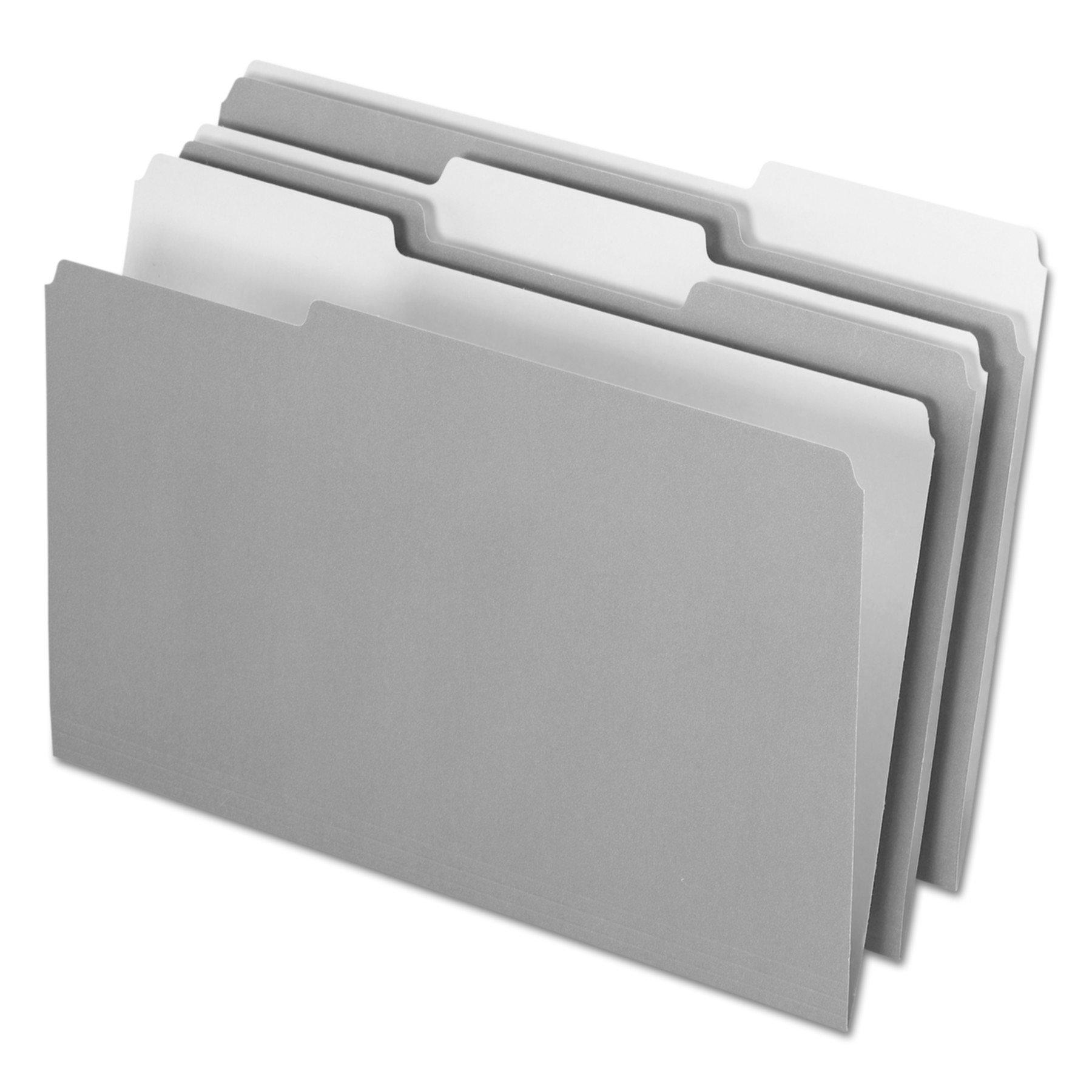 Pendaflex 435013GRA Interior File Folders, 1/3 Cut Top Tab, Legal, Gray (Box of 100) by Pendaflex