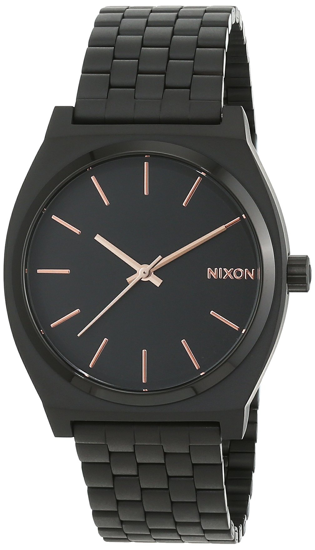 Nixon Time Teller Watch - All Black / Rose Gold