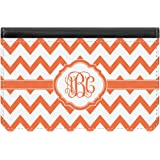 Personalized Pixelated Chevron Genuine Leather Small Framed Wallet