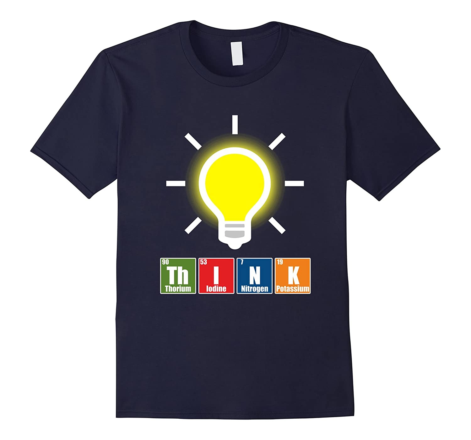 FUNNY THINK T-SHIRT Science Periodic Table Teacher Student-azvn