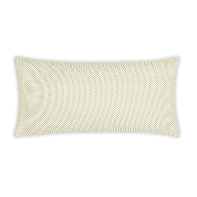 FlatIron Textured Oatmeal Diagonal Weave 10 W x 22 L Decorative Pillow