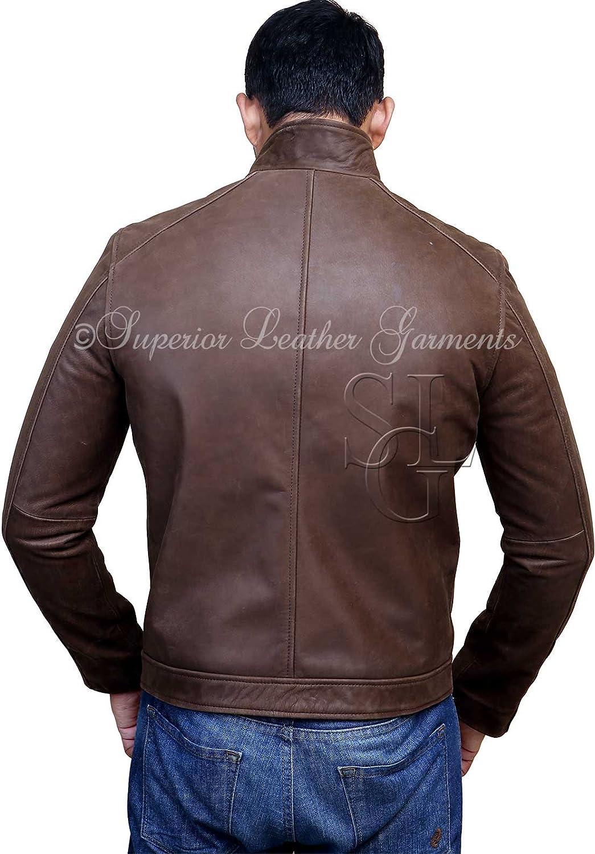 Jason Bourne Series Matt Damon High Quality Cowhide Real Leather Jacket