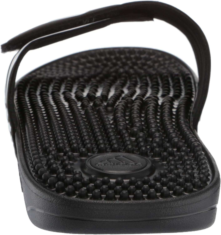 Adidas Adissage, Basket Mixte Adulte Black White