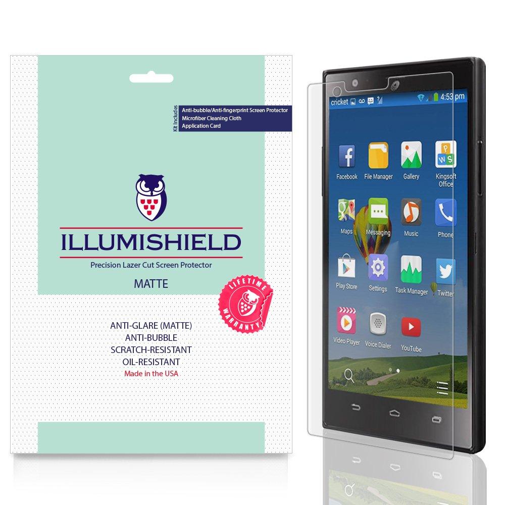 iLLumiShield Matte Anti-Glare Screen Protector for ZTE Lever LTE - [3-Pack]