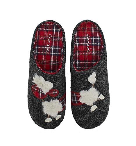 Garzón - Zapatillas de Casa Lana Negro - Negro, 36: Amazon.es: Zapatos y complementos