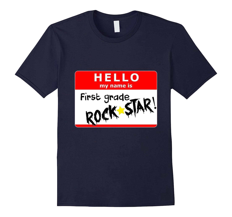 First Grade Back to School Rock Star T-Shirt-BN