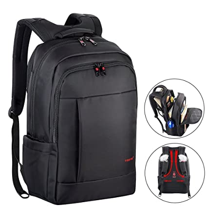 a476f6e16196 Image Unavailable. Image not available for. Color  Kuprine 17 Inch Water  Resistant Business Lightweight Slim Laptop Backpack ...