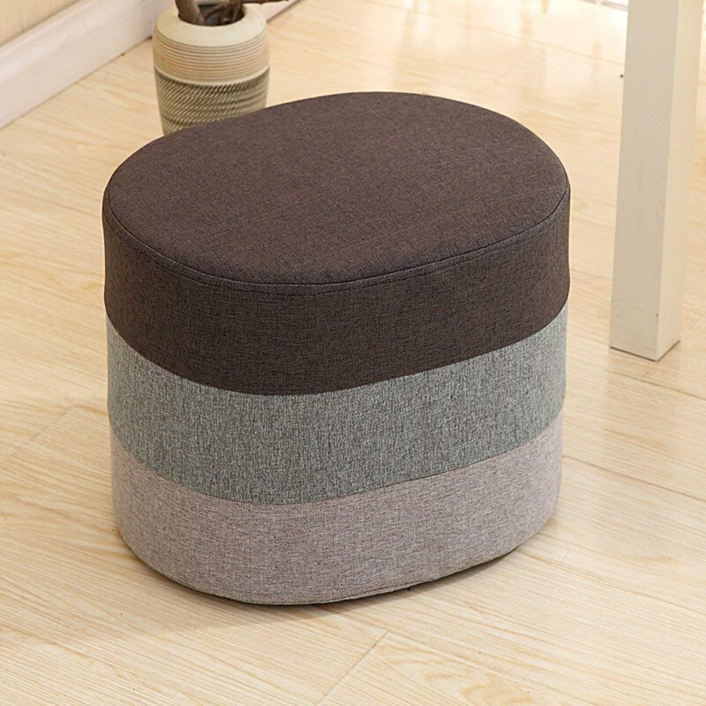Grey BRNEBN Chair-Sofa Stool shoes for shoes Cloth Stool Stool Stool shoes Stool Stool Bench Stool Bench Home Convenient (color   Pink)