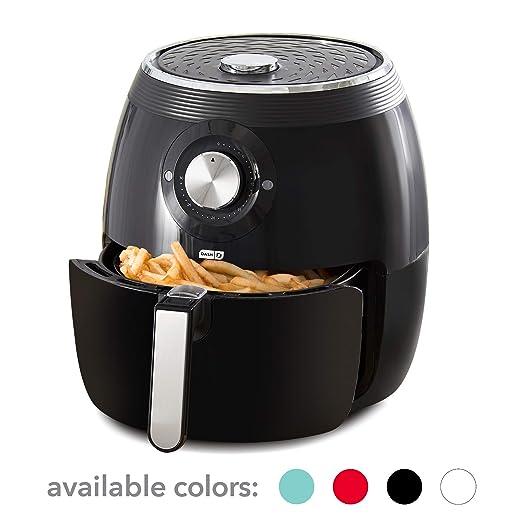 Dash Deluxe Freidora eléctrica de aire + horno (enchapado): Amazon ...