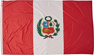 product image for Annin Flagmakers Model 196689 Peru Flag Nylon SolarGuard NYL-Glo, 5x8 ft, 100% Made in USA to Official United Nations Design Specifications