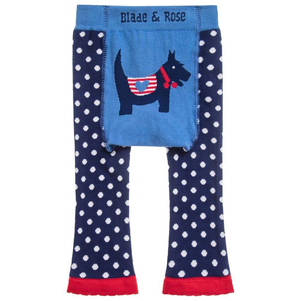 Matching Socks 2 Pack.blue Blade and Rose Scottie Dog Leggings
