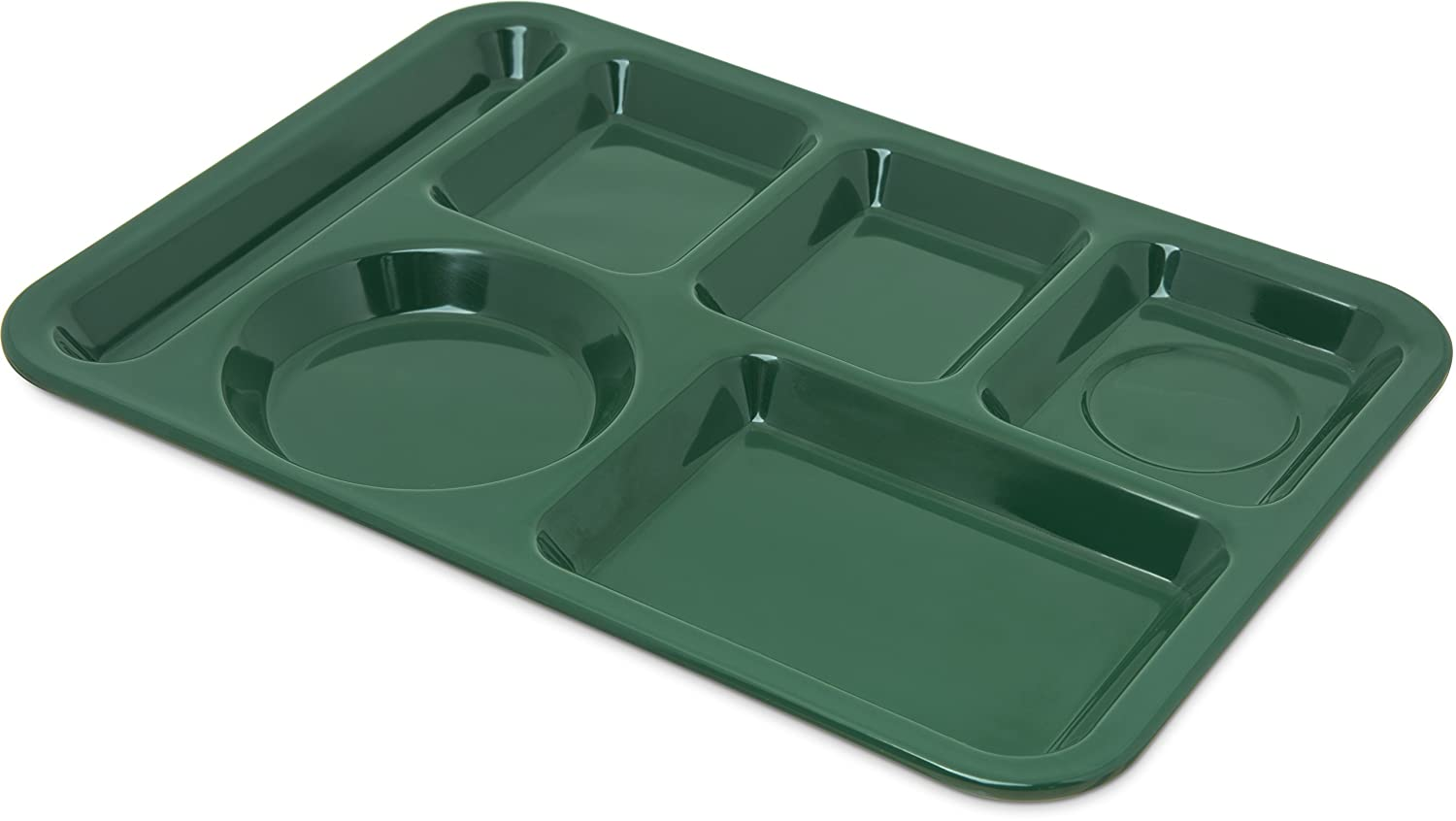 Carlisle 4398008 Left-Hand Heavy Weight 6-Compartment Cafeteria/Fast Food Tray, 10