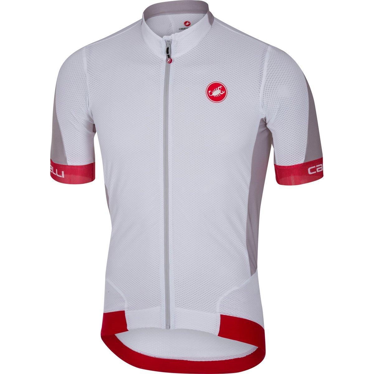CastelliメンズVolata 2 Bike jersey fz B06XHPRSTQ XX-Large|ホワイト/レッド ホワイト/レッド XX-Large