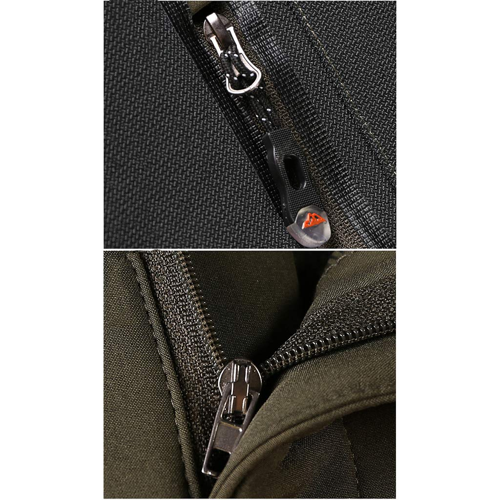 VSWEGD Hommes en Plein air Pantalon Cargo Respirant Coupe Pantalon Softshell Trekking Escalade Pantalon Tactique avec Poches zipp/ées