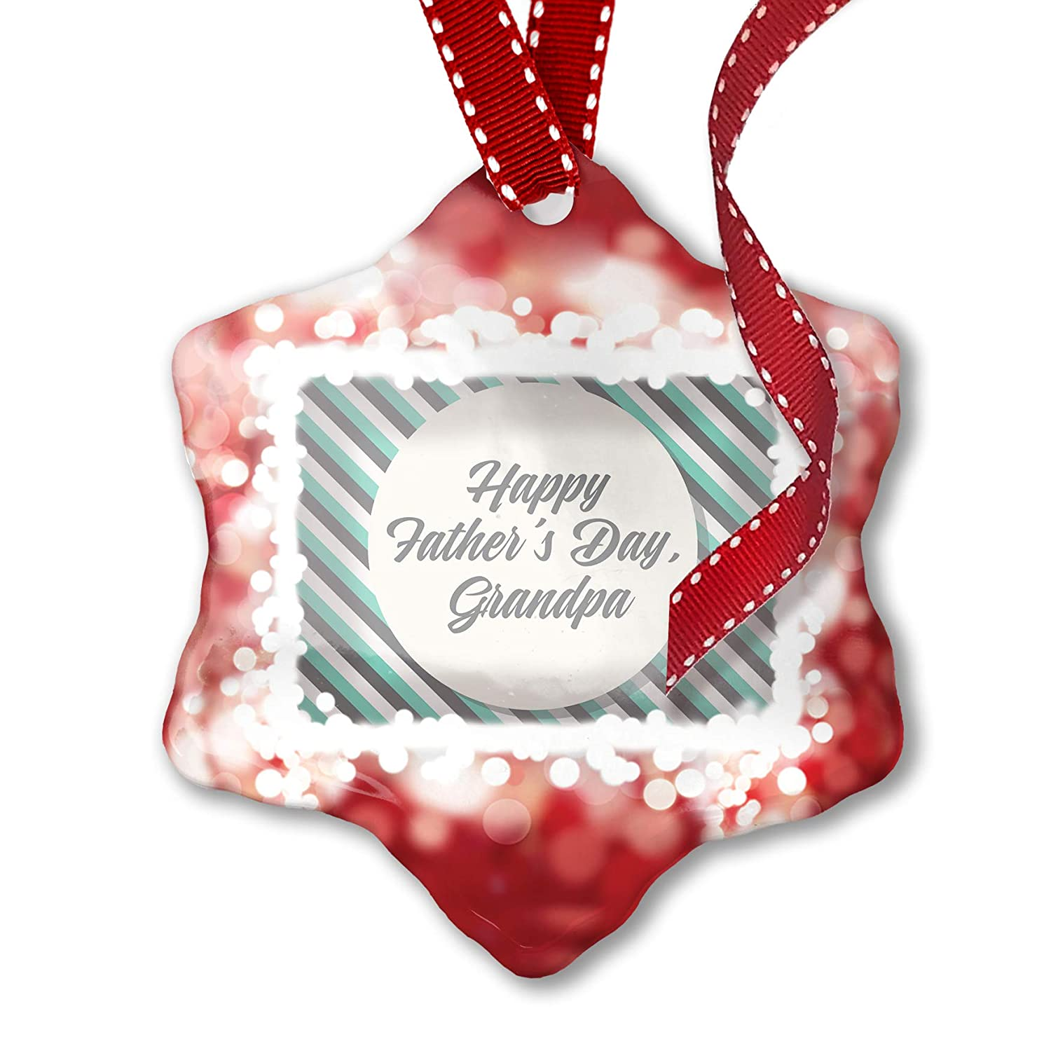 Amazon com: NEONBLOND Christmas Ornament Happy Father's Day