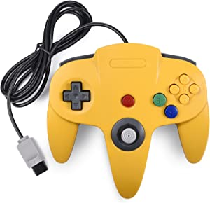 N64 Classic Controller, miadore Rerto N64 Gaming Remote Gamepad Joystick for N64 Console Video Game System ( Yellow and Blue)