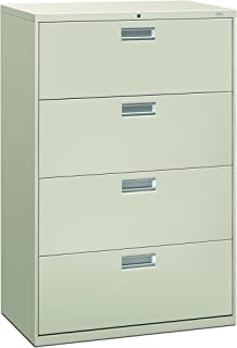 product image for HON 684LQ 600 Series 36-Inch by 19-1/4-Inch 4-Drawer Lateral File, Light Gray