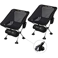 $28 » Rock Cloud 2 Pack Ultralight Camping Chair Portable Folding Chairs Outdoor with Legs…