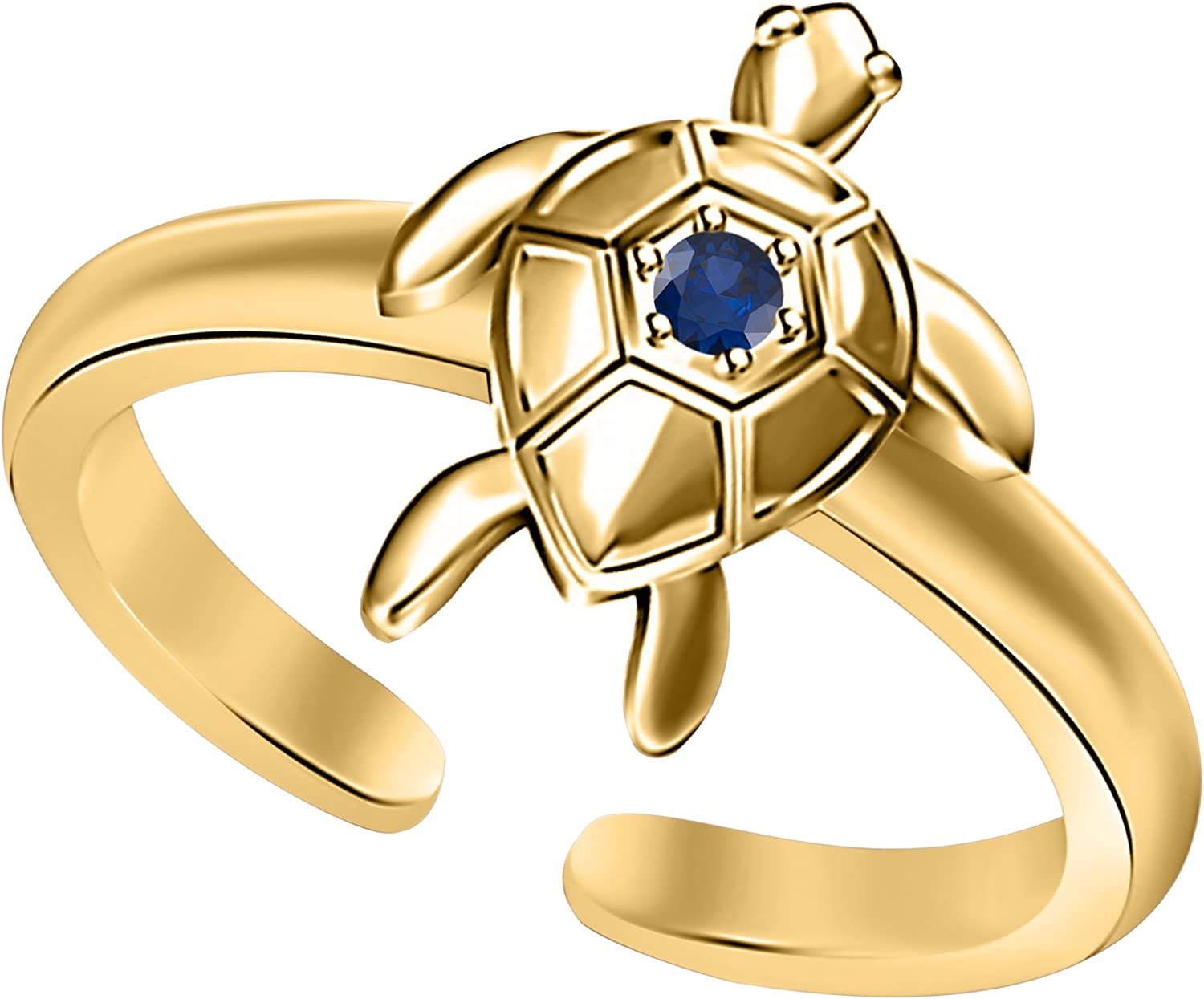 Jewels By Lux 14K Yellow Gold Plumeria Toe Ring