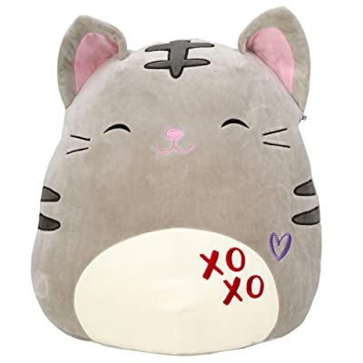 "Squishmallow 8"" Carson The Valentine Grey cat Stuffed Animal Plush Pillow Pet …: Toys & Games [5Bkhe0501894]"