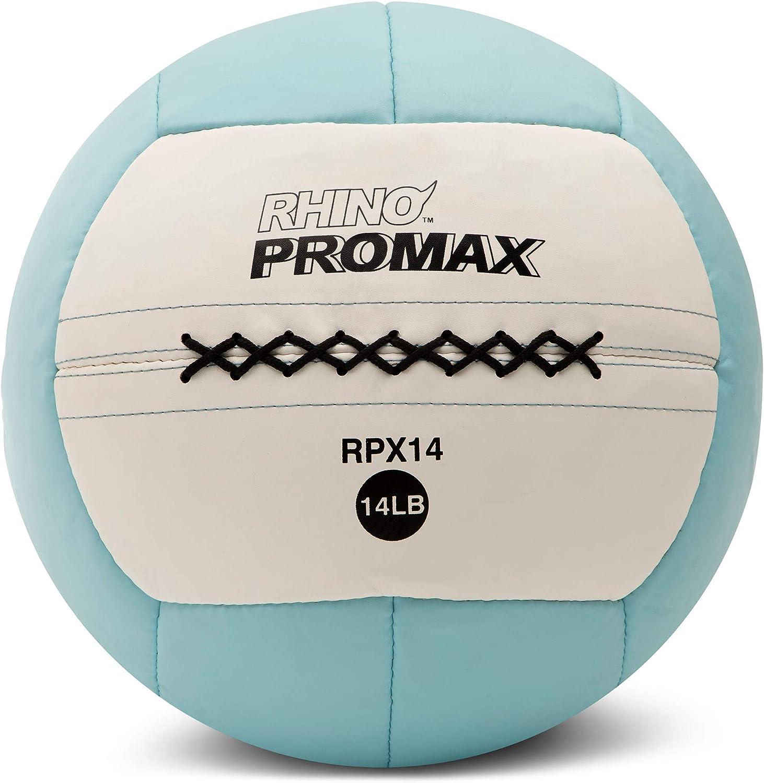 Champion Sports Rhino Promax Slam Balls, Soft Shell with Non-Slip Grip - Medicine Wall Ball for Slamming, Bouncing, Throwing - Exercise Ball Set for Weightlifting, TRX, Plyometrics, Cross Training