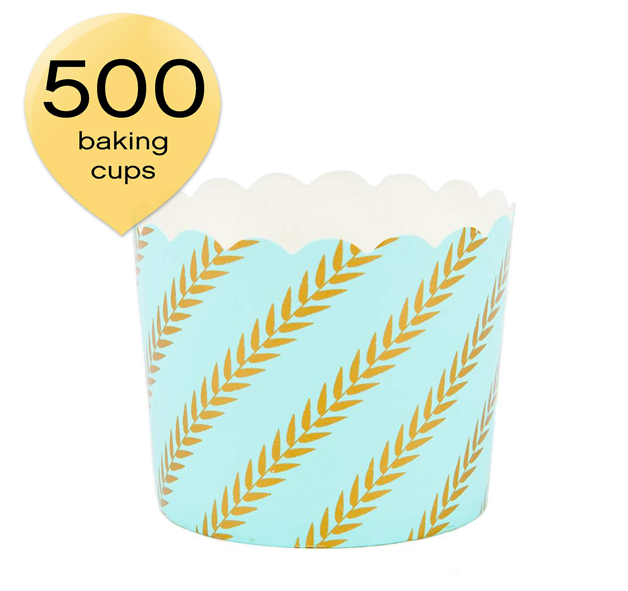 Simply Baked CLG-139C Paper Baking Cup, 500-Pack, Mint Gold Leaf by Simply Baked