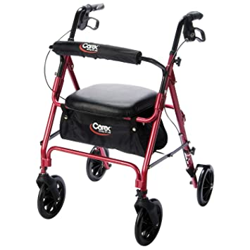 Amazon.com: Caminador con rueditas Carex/Andador con asiento ...