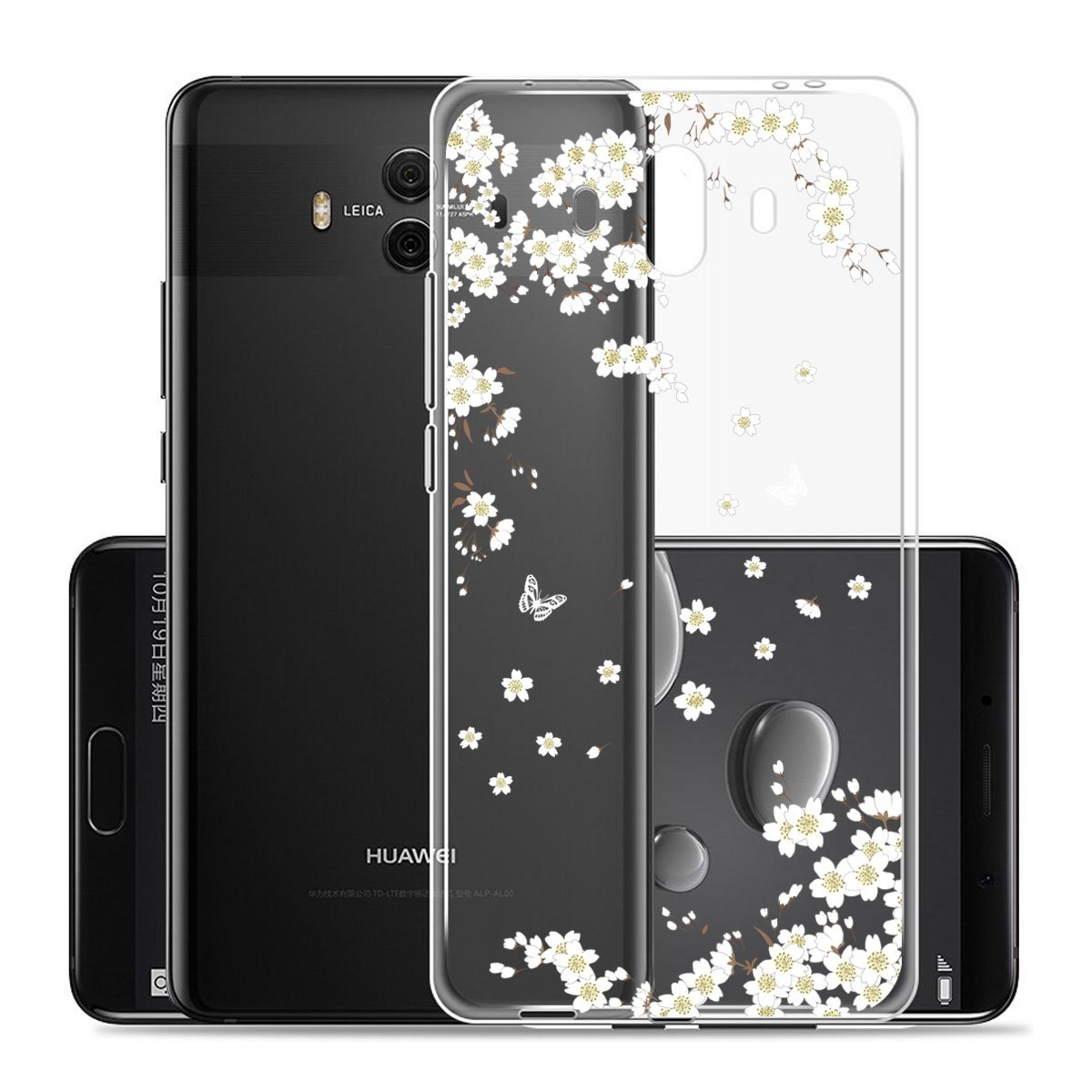 Funda para Huawei Mate 10 Carcasa , YIGA Moda Unicornio del arco iris Caso Cristal Transparente Funda TPU Gel Cubierta De Silicona Suave Tapa Case Cover para Huawei Mate 10 (5.9) WM-W-Mate10-tpu-WM110(YG)