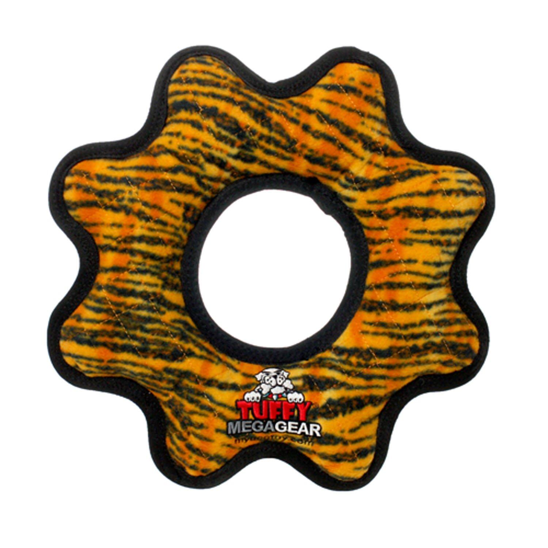 Tuffy Mega Gear Ring Dog Toy, Tiger Print