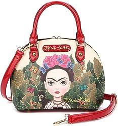 Frida Kahlo Cartoon Small Handbag and Cross Body Bag