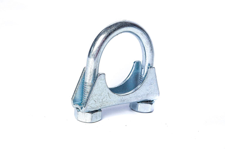 NovaNox German Engineering/® B/ügelschellen M10 Stahl verzinkt /Ø 36-37mm Rohrb/ügelschelle Befestigungsschelle Auspuffschellen Rohrschellen Auspuff Reparatur Schelle Abgasanlage///Ø 36-37mm