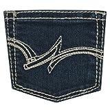 Wrangler Girls' Western Boot Cut Jean, Dark Wash, 6