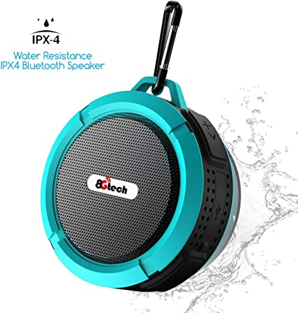 Beach IPX7 Waterproof Wireless Outdoor Speaker with HD Sound INSMY Portable Shower Bluetooth Speaker Suction Cup for Home Support TF Card Hiking Boating for Pool 12H Playtime