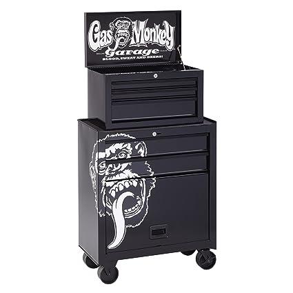 Gas Monkey Garage GMGBTC26X5 5 Drawer Tool Center/Chest U0026 Cabinet, 26u0026quot;