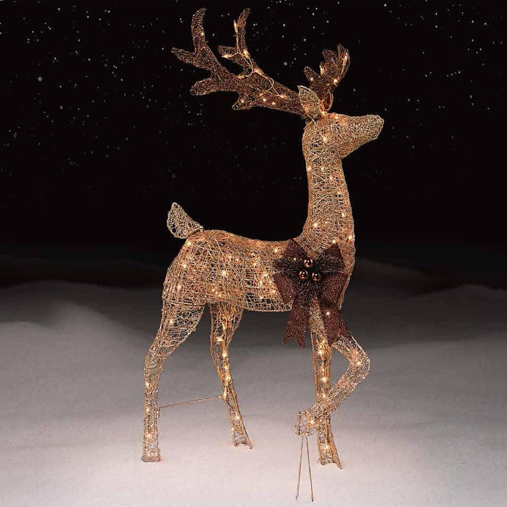48'' Gold Buck with 150 Lights - CFP by Holiday Time