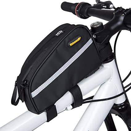 Selighting Bolsa Bicicleta Manillar Bolsa Bicicleta Tubo Frontal Bolsa Ciclismo 7 Inch Impermeable de Gran Capacidad para Bicicleta de Montaña