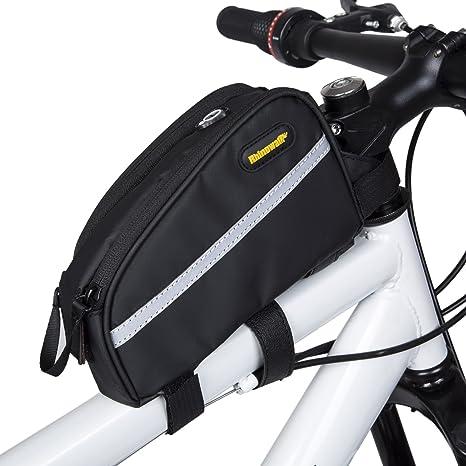 ba3d69e8e66 Selighting Fahrradtasche Fahrrad Oberrohrtasche Wasserdicht Rahmentasche  für Mountainbike Rennrad (Schwarz)