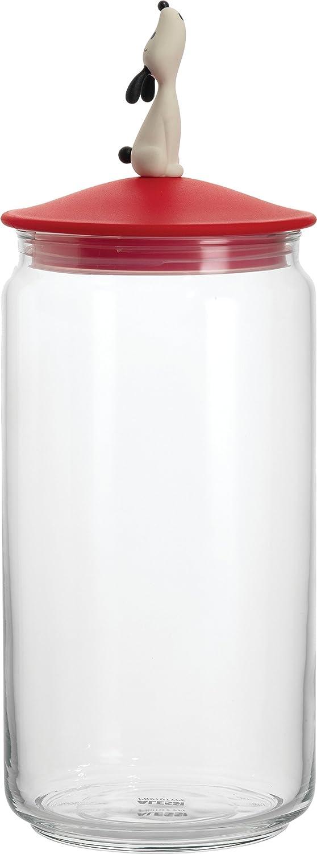 【正規輸入品】 ALESSI アレッシィ LulaJar ドッグフード用ガラス容器/レッド AMMI21 R B0042UOTISレッド