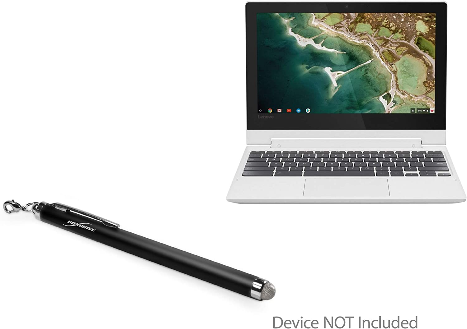 "Lenovo C330 Convertible 2-in-1 Chromebook (11.6"") Stylus Pen, BoxWave [EverTouch Capacitive Stylus] Fiber Tip Capacitive Stylus Pen for Lenovo C330 Convertible 2-in-1 Chromebook (11.6"") - Jet Black"