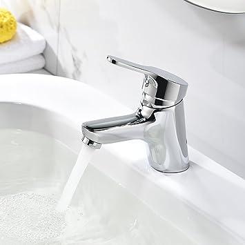 Homelody Chrom Wasserhahn Bad Armatur Waschbecken Einhebel  Waschtischarmatur Einhebelmischer Mit Ablaufgarnitur Loch Badarmatur  Mischbatterie Badezimmer
