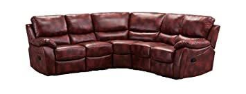 11bf9cca75e0c Abreo Ludlow Large Recliner Corner Sofa Leather Reclining 7 8 Seater Camel  Light Brown Tan