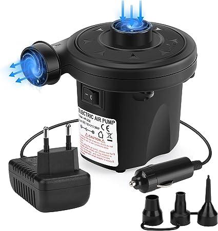 2 in 1 Elektrische Luftpumpe Auto Elektropumpe Planschbecken Luftmatratze Pool