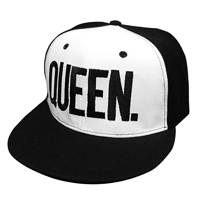 Amazon.com: 2 PCS KING and QUEEN Adjustable Hip-Hop Hats 3D Fashion Embroidered Lovers Couples Snapback Caps: Sports & Outdoors