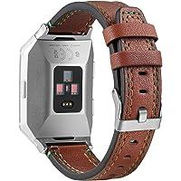 Fitbit Ionic saat, yedek aksesuar, deri Bandriemen için Bayite deri kayış