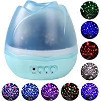 Sanlinkee Night Light Projector for Kids with 8 Colors & 4 LED Heads