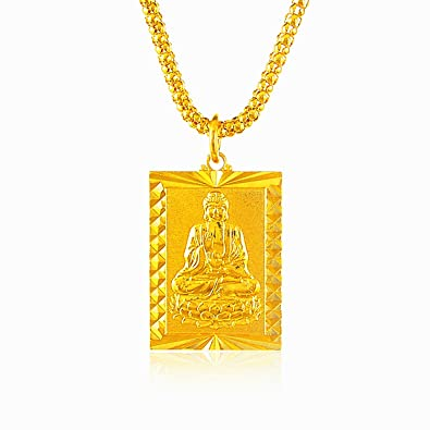 Lihong fashion 24k yellow gold plated buddha square pendant necklace lihong fashion 24k yellow gold plated buddha square pendant necklace 28 amazon mozeypictures Image collections