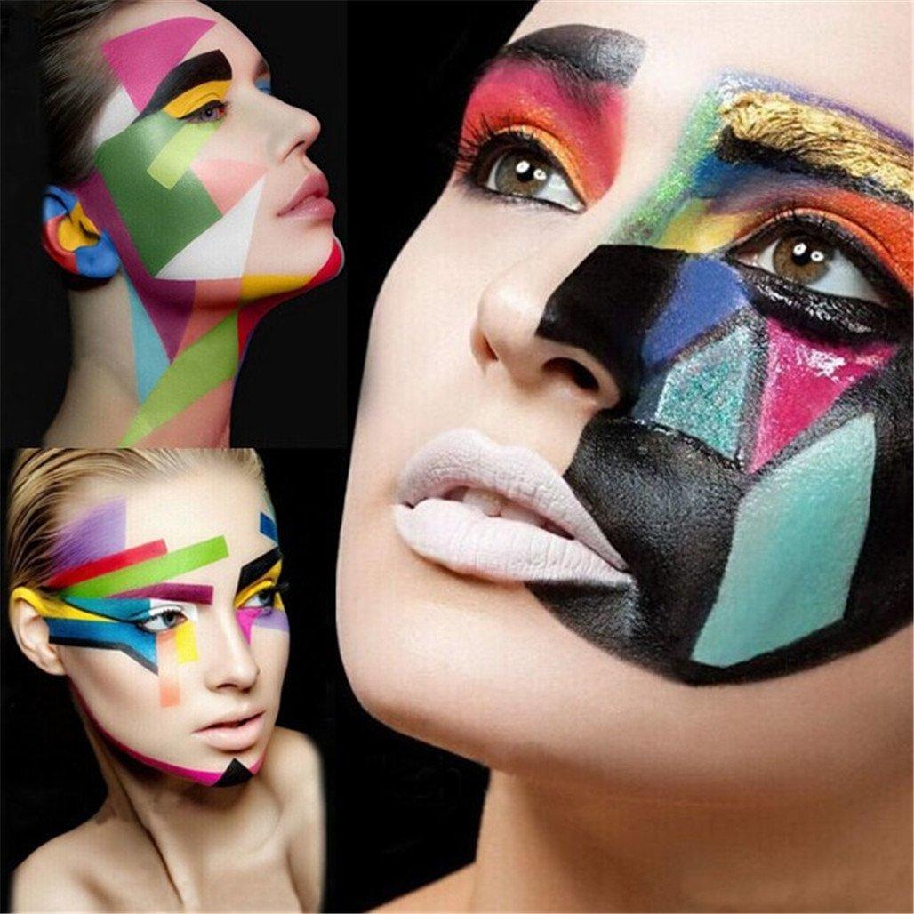 amazoncom ccbeauty professional face body paint oil 12colors painting art party fancy make up set 1