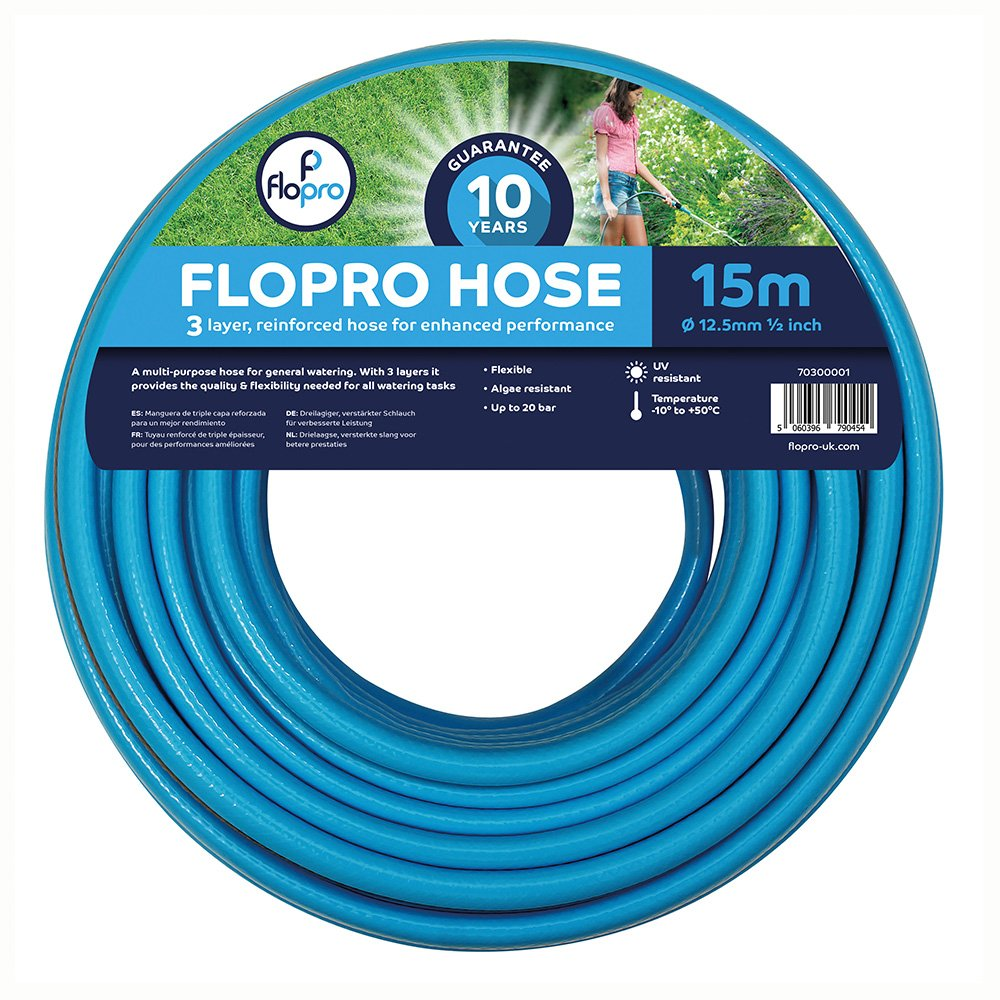 Flopro 70300011 15 m 100 Hose with Connectors: Amazon.co.uk: Garden ...