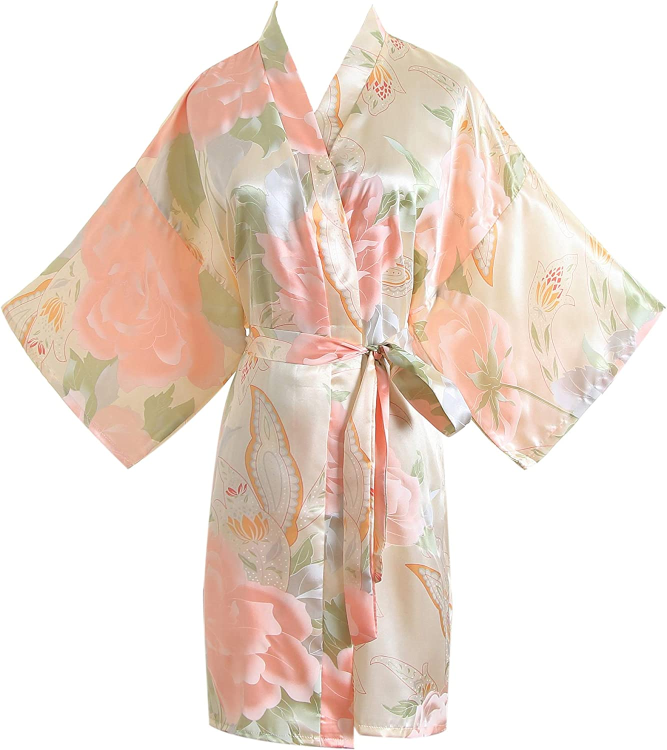 Resort Wear Kimono Crossover Flower Dress Monogram Robes Bridesmaid Dress Bohemian Clothing Labor And Delivery Robe Hospital Gown