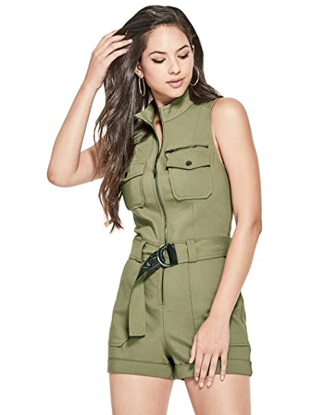 52e5ba44696b GUESS Women s Axel Moto Romper  Amazon.ca  Clothing   Accessories